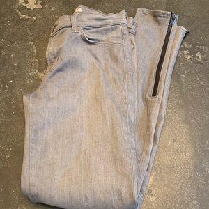 JBrand skinny zipper leg jeans